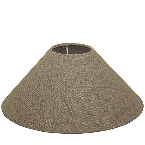 Light & Living Lampenschirm rund Ø 35cm Leinen gewebt dunkel E27 für Tischlampe / Stehleuchte geeign